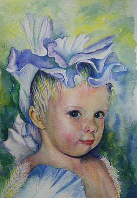 Painting - The Iris Princess by Mary Wykes
