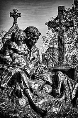 Photograph - The Irish Hunger Memorial Detail 1 by Val Black Russian Tourchin