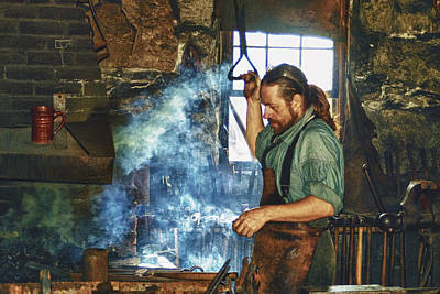 The Iron Man- Blacksmith Art Print