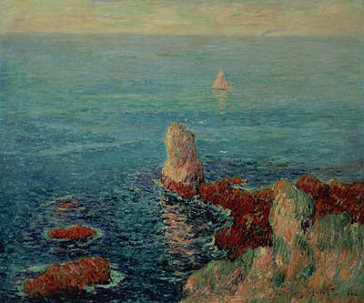Moret Painting - The Island Of Groix by Henry Moret