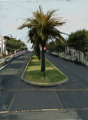 Traffic Light Mixed Media - The Island by Russell Pierce