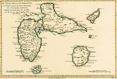 Parties Drawing - The Islands Of Guadeloupe by Guillaume Raynal