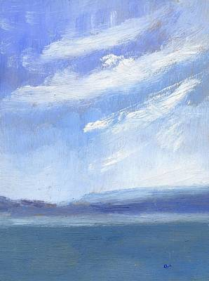 The Isle Of Wight From Portsmouth Part Three Art Print by Alan Daysh
