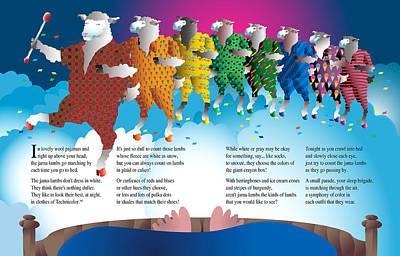 Creativity Drawing - The Jama-lambs by Gene Rosner