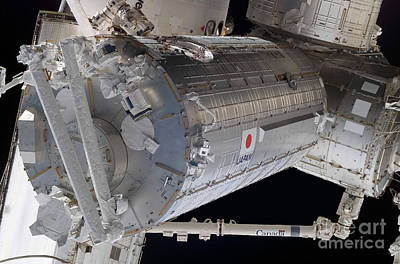 The Japanese Pressurized Module, The Art Print by Stocktrek Images