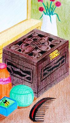 Carnation Drawing - The Jewelry Box by Adam Wai Hou
