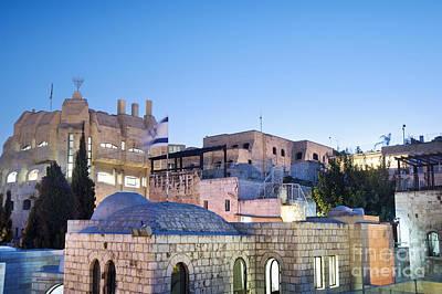 Star Of David Photograph - The Jewish Quarter In Jerusalem by Noam Armonn