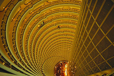 The Jin Mao Tower Looking Art Print by Justin Guariglia