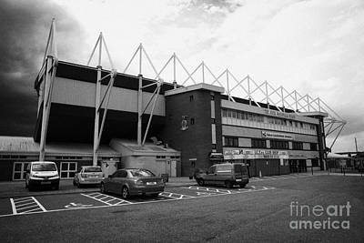 the jock macdonald stand at Inverness caledonian thistle football stadium scotland uk Art Print by Joe Fox
