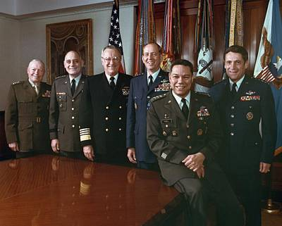 The Joint Chiefs Of Staff Gather For An Art Print by Everett