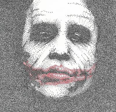 The Dark Knight Drawing - The Joker by Anthony McCracken