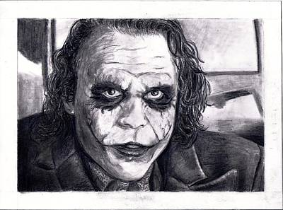 The Dark Knight Drawing - The Joker by Katelynn Johnston