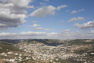 Ajloun Photograph - The Jordanian Countryside And The Town by Taylor S. Kennedy