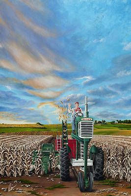 Painting - The Journey Of A Farmer by Cindy D Chinn