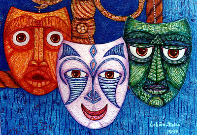 The Joy  The Anger And The Fear  Art Print by Madalena Lobao-Tello