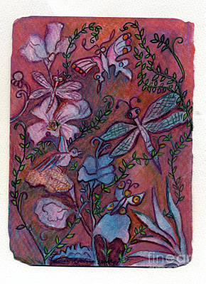 Dragonflys Painting - The Joys Of Nature by Marlene Robbins