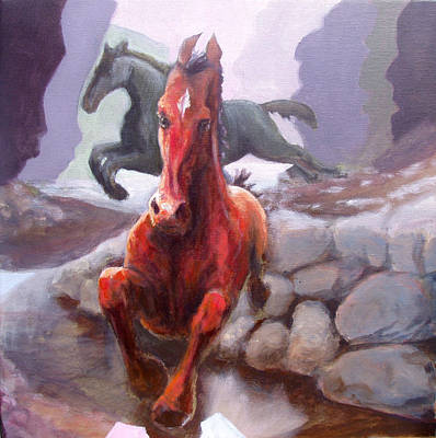 Stone Pony Painting - The Jump by Graham Keith