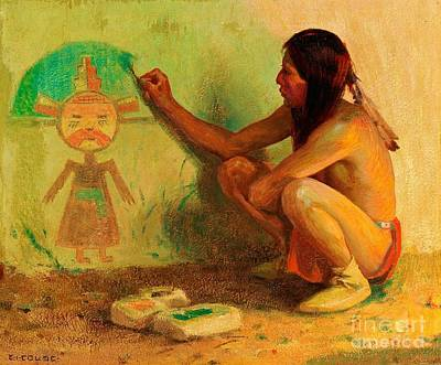 Painting - The Kachina Painter by Pg Reproductions