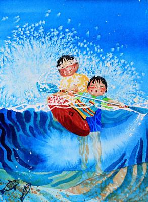 Ice Floe Painting - The Kayak Racer 10 by Hanne Lore Koehler