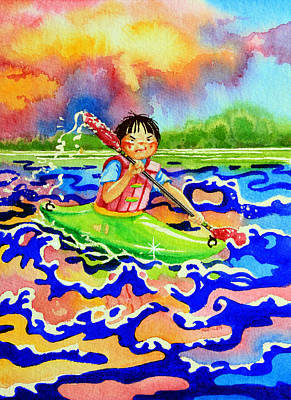 The Kayak Racer 12 Art Print by Hanne Lore Koehler