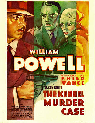 Postv Photograph - The Kennel Murder Case, William Powell by Everett