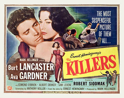 The Killers, Burt Lancaster, Ava Art Print