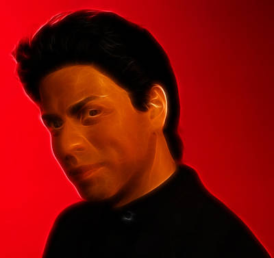 Photograph - The King Of Bollywood - Shahrukh Khan - Shah Rukh Khan - Baadshah Of Bollywood - King Khan -  by Lee Dos Santos