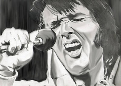 Tom Parker Drawing - The King Of Rock'n Roll by Erwin Verhoeven