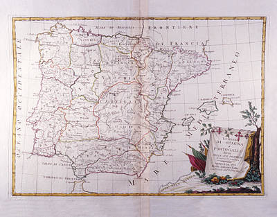 The Kingdom Of Spain And Portugal Divided Art Print by Fototeca Storica Nazionale