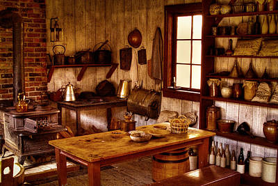 Photograph - The Kitchen At Fort Nisqually by David Patterson