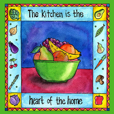 Painting - The Kitchen Is The Heart Of The Home by Pamela  Corwin
