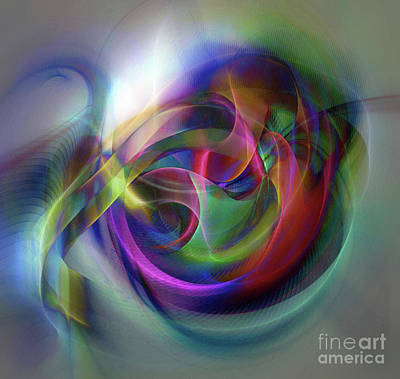Digital Art - The Knot Of Time 9 by Helene Kippert