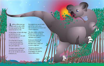 Creativity Drawing - The Koalasaurus by Gene Rosner