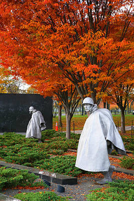 The Korean War Memorial In Autumn Art Print