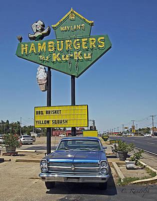 Photograph - The Ku Ku Drive In by Cheri Randolph