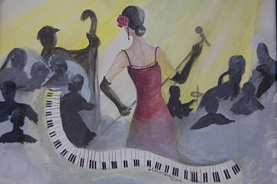 Painting - The Lady And Jazz by Janna Columbus