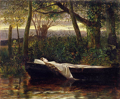 Ghost Ship Painting - The Lady Of Shalott by Walter Crane