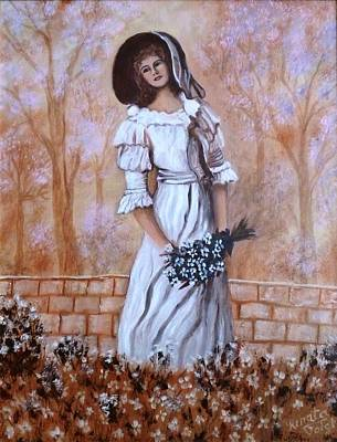 Painting - The Lady by Renate Voigt