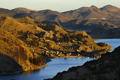 The Lake Titicaca At Sunset. Republic Of Bolivia.  Art Print by Eric Bauer