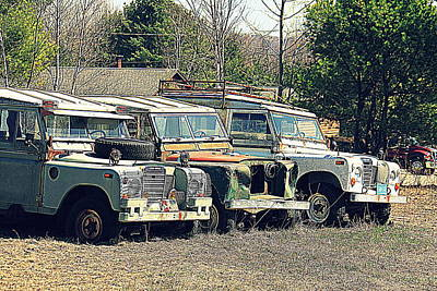 The Land Rover Graveyard Art Print