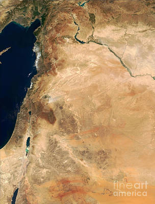 The Lands Of Israel Along The Eastern Art Print by Stocktrek Images