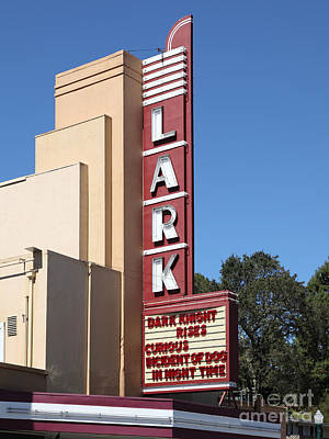 The Lark Theater In Larkspur California - 5d18482 Art Print by Wingsdomain Art and Photography