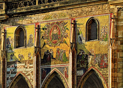 Mosaic Photograph - The Last Judgment - St Vitus Cathedral Prague by Christine Till