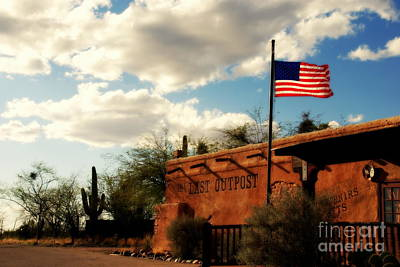 The Last Outpost Old Tuscon Arizona Art Print by Susanne Van Hulst