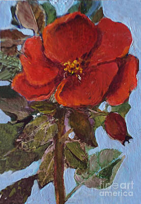 Painting - The Last Rose by Diane Ursin