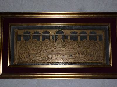 Religious Bible Plot Glass Art - The Last Supper  by BRUBER Bruno Bertoldini