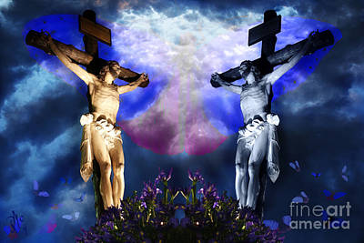 Procession Digital Art - The Last Tempation Of Christ by Rosa Cobos