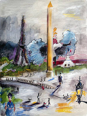 Eiffel Tower Mixed Media - The Last Time I Saw Paris by Ginette Callaway