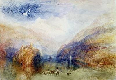 Swiss Landscape Painting - The Lauerzersee With The Mythens by Joseph Mallord William Turner