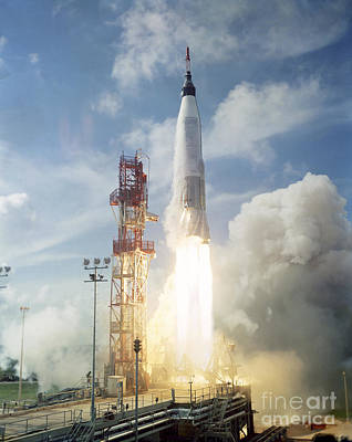 The Launch Of The Mercury-atlas 4 Print by Stocktrek Images